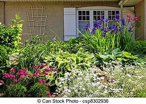 Stock Image of Residential garden landscaping ...