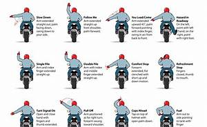 Motorcycle Hand Signals Graphic Eases Bike-to-bike Communication
