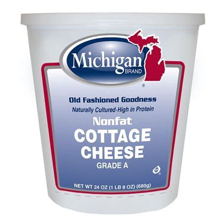 Nonfat Cottage Cheese Michigan Brand Nonfat Cottage Cheese 24 Oz Walmart