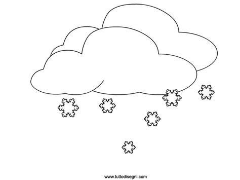 fiocchi  neve  nuvole da colorare tuttodisegnicom