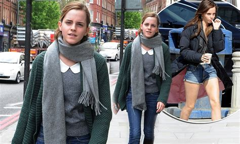Emma Watson Returns Her Usual Low Key Style After