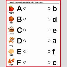 Kindergarten Worksheets Match Upper Case And Lower Case Letters 8  School Ideas  Little Ones