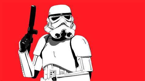 Storm Trooper Wallpaper Hd Stormtrooper Red Wallpaper And Background 1360x768 Id 89789