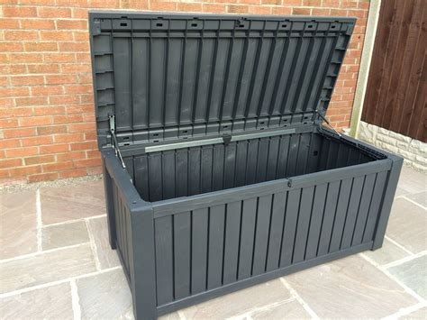 Keter Rockwood Deck Box by Keter Rockwood Anthracite Plastic Garden Storage Deck Box