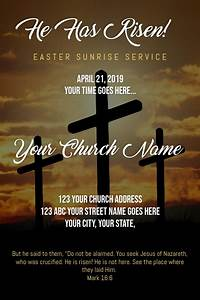 Christmas Concert Poster Template Easter Sunrise Service Poster Template Postermywall