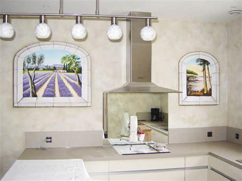 cuisine trompe l oeil cuisine murs peints et trompe l 39 œil