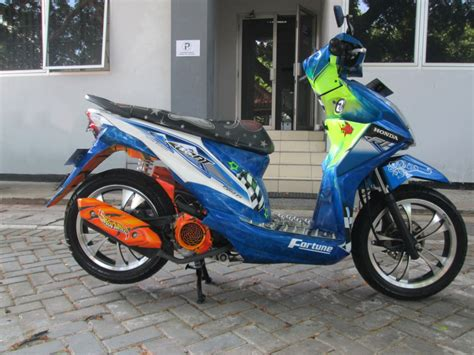 Motor Modif Beat by Koleksi 97 Modif Cat Motor Beat F1 Terlengkap Rante