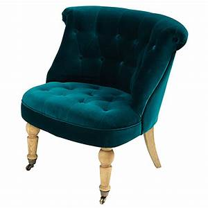 Fauteuil Crapaud Bleu Canard : fauteuil capitonn en velours bleu canard maisons du monde ~ Teatrodelosmanantiales.com Idées de Décoration