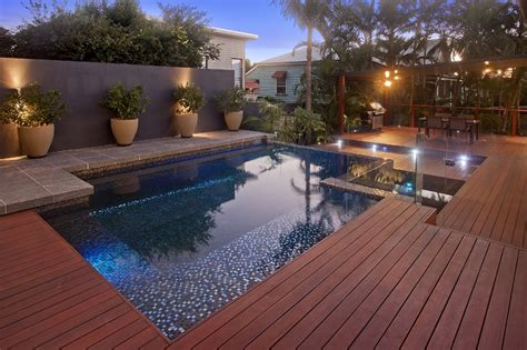 pool decking brisbane timber pool deck builders deking