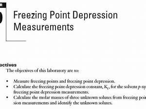 How To Find Molar Mass From Freezing Point  Determining