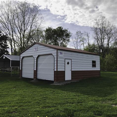 10x8 garage door g 03 24x25x9 garage midwest steel carports