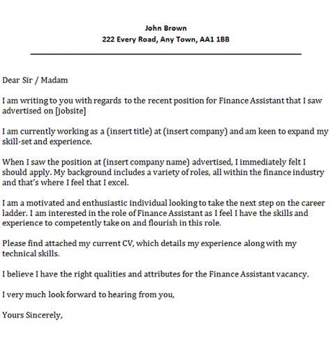 finance assistant cover letter  icoverorguk