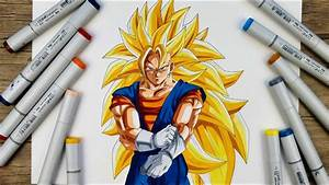 Drawing Vegito Super Saiyan 3