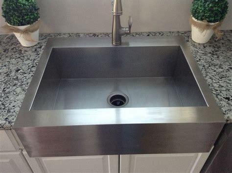 kitchen sinks small best stainless steel farmhouse sink the kienandsweet 3054