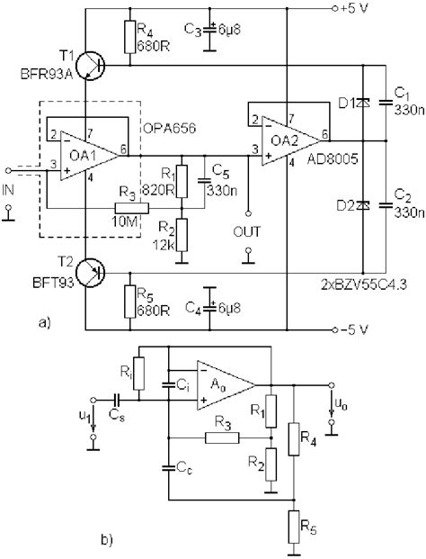 High Input Impedance Unity Gain Stage Circuit Diagram