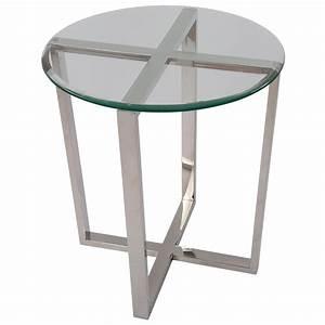 Tisch Glas Metall : beistelltisch rund glas metall tisch glas verchromt metall h he 61 cm ~ Markanthonyermac.com Haus und Dekorationen