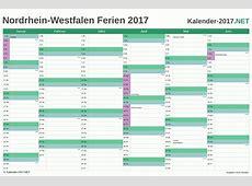 FERIEN NordrheinWestfalen 2017 Ferienkalender & Übersicht