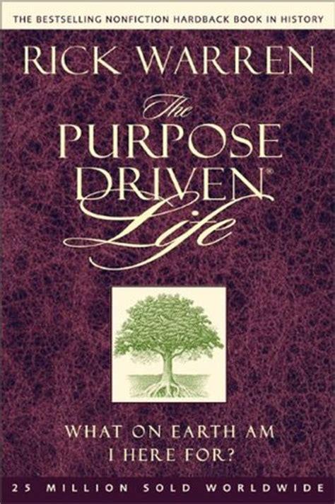 purpose driven life   earth