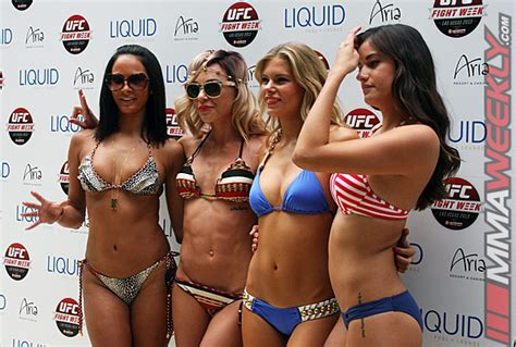 ufc  fight week pool party  octagon girls