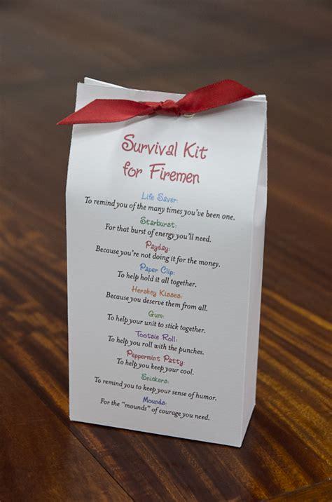 survival kit  firemen pattern gifts