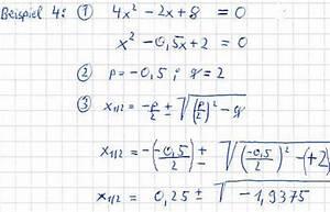Quadratische Funktion Berechnen : pq formel f r quadratische gleichungen ~ Themetempest.com Abrechnung