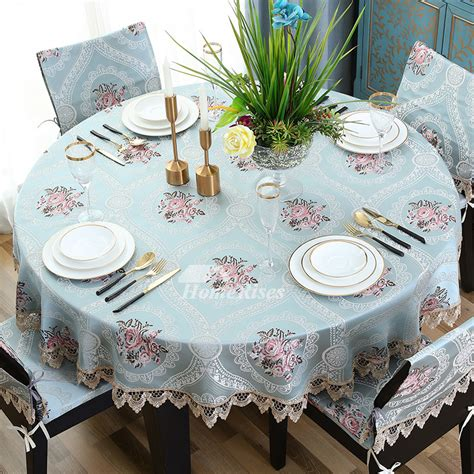tablecloths   bluewhite polyestercotton
