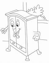 Wardrobe Coloring Drawing Pages Narnia Armoire Template Sketch Getdrawings sketch template
