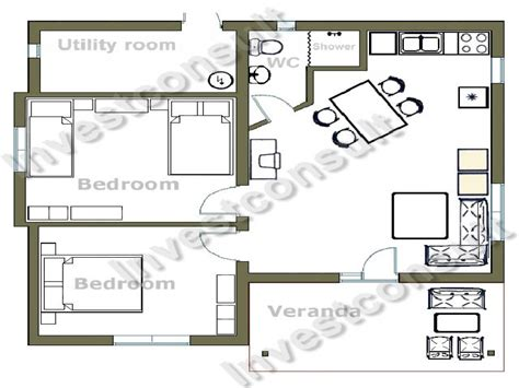 small  bedroom house floor plans small  bedroom