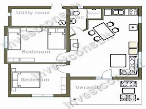 small two bedroom house floor plans small two bedroom With plan of two bed room