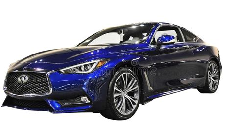 Infiniti Q60 Sports Car On White Background Editorial