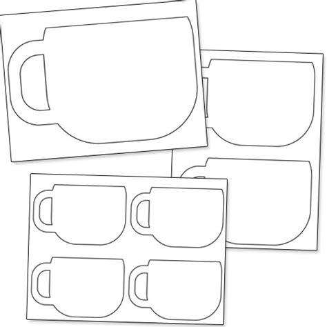 coffee mug template 4 best images of free printable coffee cups coffee cup stencils printable free printable