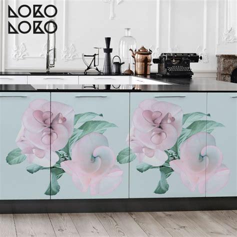 flores de color pastel vinilo  muebles suelos  pared