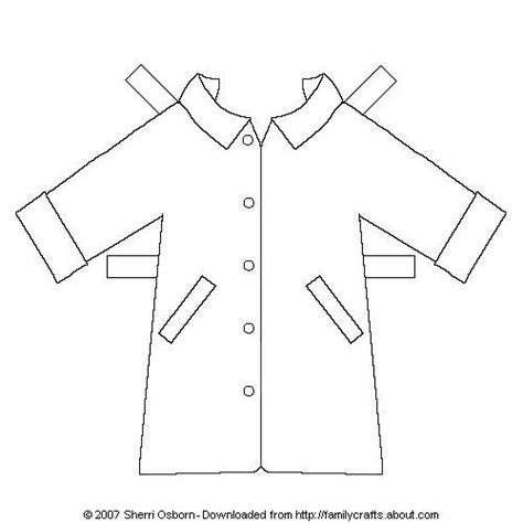 Coat Template by Printable Paper Doll Outerwear