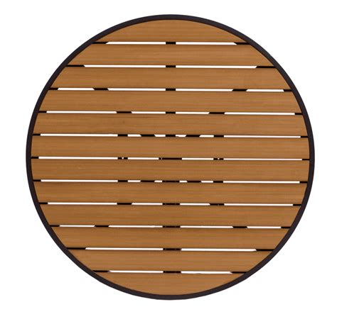 outdoor round wood table tops 36 quot round synthetic teak commercial outdoor table top with