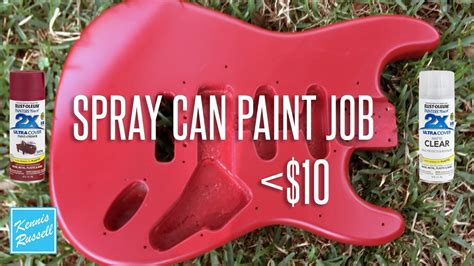 Can You Paint A Guitar With Spray Paint For Less Than