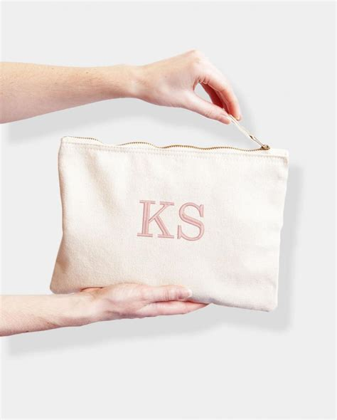 personalised monogram bag embroidered  initials withcongratulations