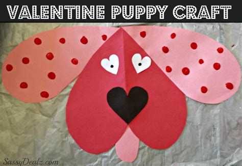 Cute Dog Valentines Day Craft For Kids-crafty Morning