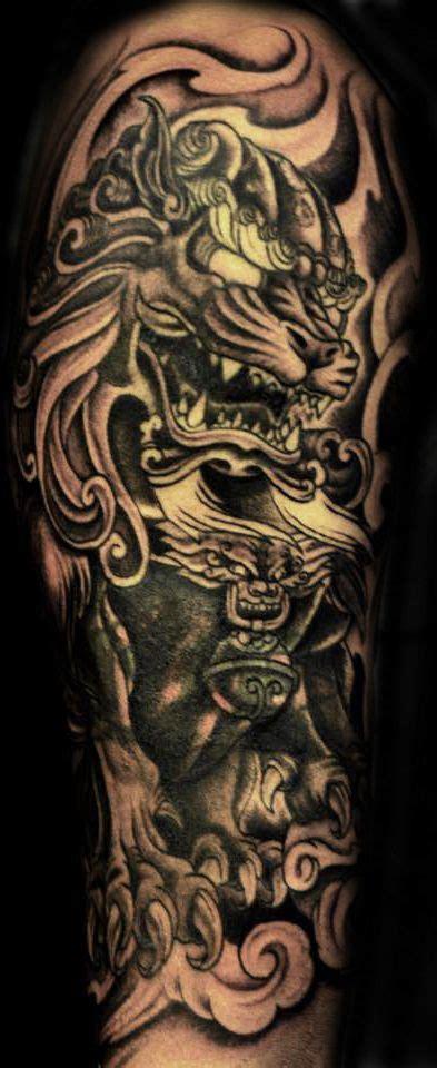 sleeve foo dog tattoo  tattoo favorites foo dog