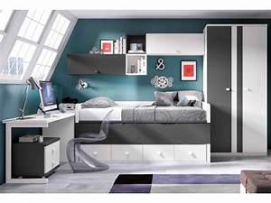 Chambre Garcon Complete : chambre enfant avec lit mezzanine bureau moretti compact so nuit ~ Teatrodelosmanantiales.com Idées de Décoration