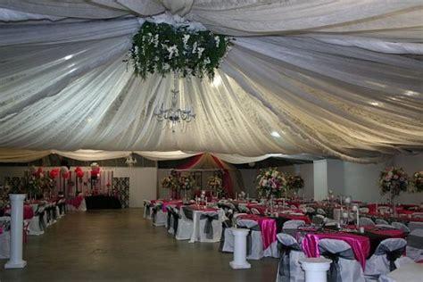 diy ceiling draping  local fairgrounds weddingbee