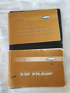 2002 Chevy S10 Pickup Truck Owner User Guide Manual Ls