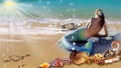 Mermaid Wallpapers Background Beach 1080p Sunbathing Definition