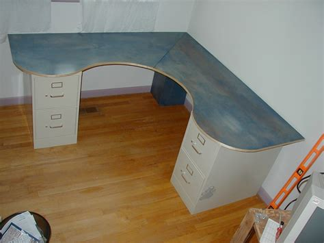 diy corner desk with file cabinets diy wrap around desk