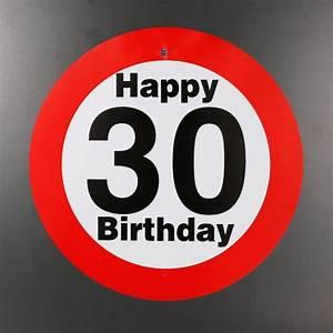 30 Dinge Zum 30 Geburtstag : gro es verkehrsschild zum 30 geburtstag ~ Bigdaddyawards.com Haus und Dekorationen