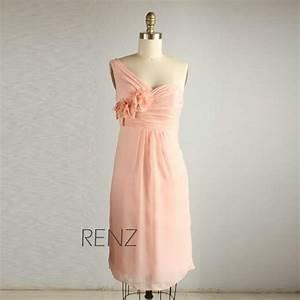 2015 Peach Wedding Dress, Chiffon Party Dress, Blush Pink ...