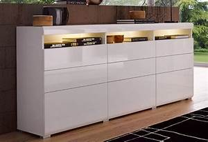 Sideboard Weiß Hochglanz 180 Cm : places of style sideboard breite 180 cm kaufen otto ~ Indierocktalk.com Haus und Dekorationen