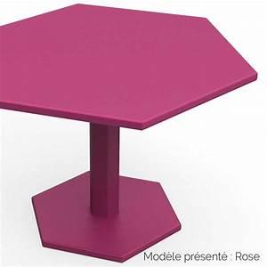 Table Basse En Acier : table basse hexagonale en acier personnalisable d 39 int rieur et d 39 ext rieur ~ Melissatoandfro.com Idées de Décoration
