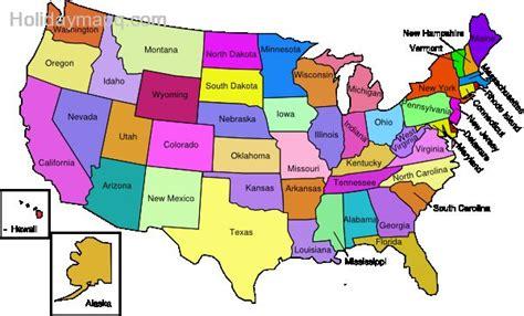 map  american states holidaymapqcom