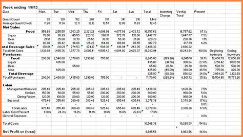 restaurant expense spreadsheet excel spreadsheets group