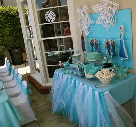 disney frozen table centerpiece disney frozen girls party kids tables and chairs